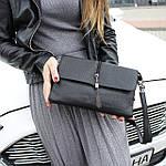 Женская сумка клатч черная (311), фото 2