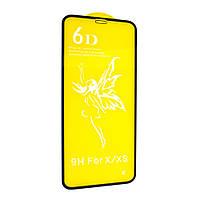 Защитное стекло для Apple iPhone X / Xs (тех. пак) (Белый) 6D