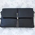 Женская сумка клатч черная (311), фото 7