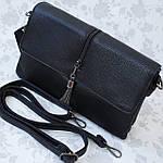 Женская сумка клатч черная (311), фото 9
