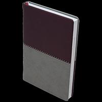 Щоденник недатований QUATTRO, A6, бордовий + сірий, фото 1
