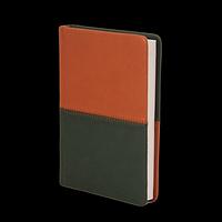 Щоденник недатований QUATTRO, A6, темно-зелений + світло-коричневий, фото 1