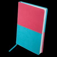 Щоденник недатований QUATTRO, A5, рожевий + бірюзовий, фото 1