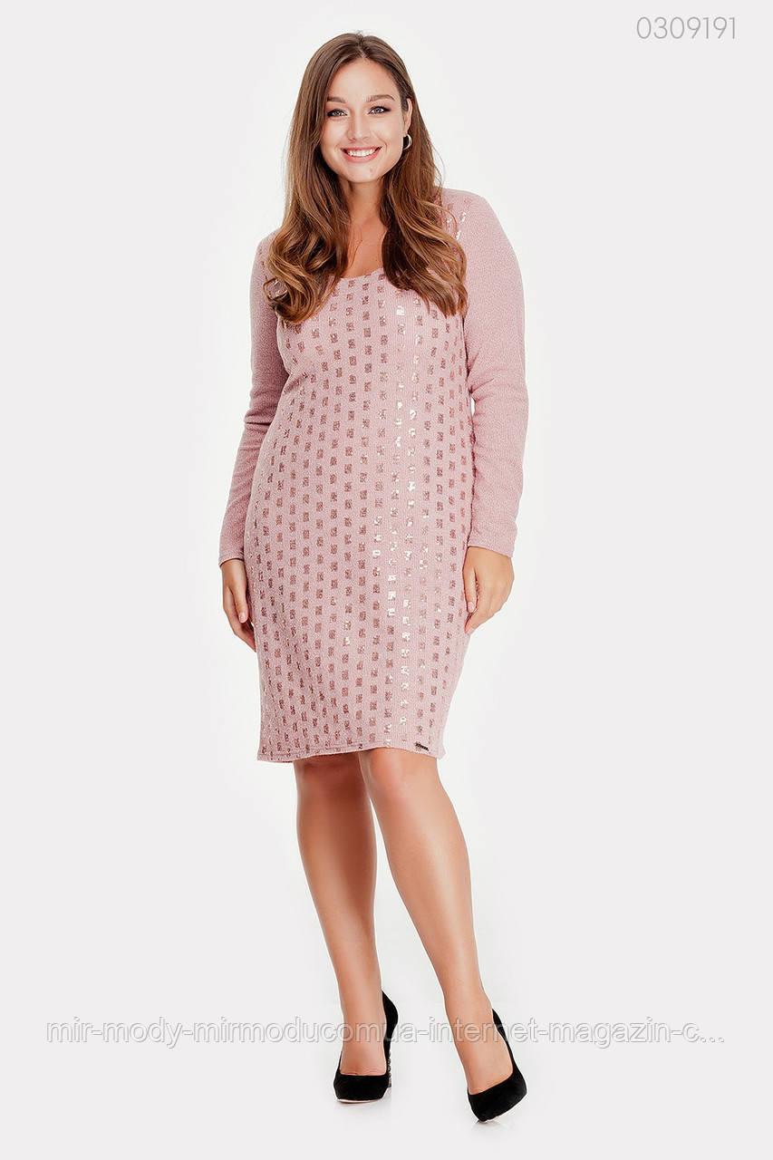 Нарядное  платье батал из ангоры Бордо (фрезовый)  3 цвета с 48 по 56 размер (пио)