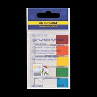 Закладки пластикові NEON 45x12мм, 5х20 аркушів, половинки, асорті, фото 1