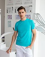 Мужская медицинская футболка, мята, фото 1