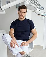 Мужская медицинская футболка, синяя, фото 1
