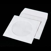 Конверт для CD (124х124мм) білий НК з вікном (Термоупаковка)