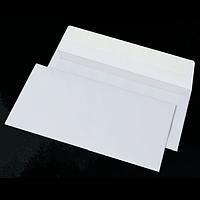 Конверт DL (110х220мм) білий СКЛ (Термоупаковка)