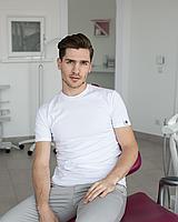 Мужская медицинская футболка, белая, фото 1