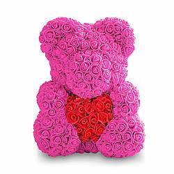 МИшка из роз 3D из роз мишка Teddy Bear 40 см в подарочной упаковке