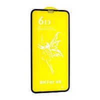 Защитное стекло для Apple iPhone Xr (тех. пак) (Черный) 6D