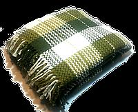 Натуральный хлопковый плед 190*200 см, зеленая клетка