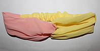 """Шифоновая повязка на голову """"Переплет двух цветов"""", 3 расцветки, фото 1"""