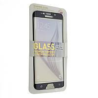 Защитное стекло для Samsung S6 Edge Plus (Черный) Full Screen Color