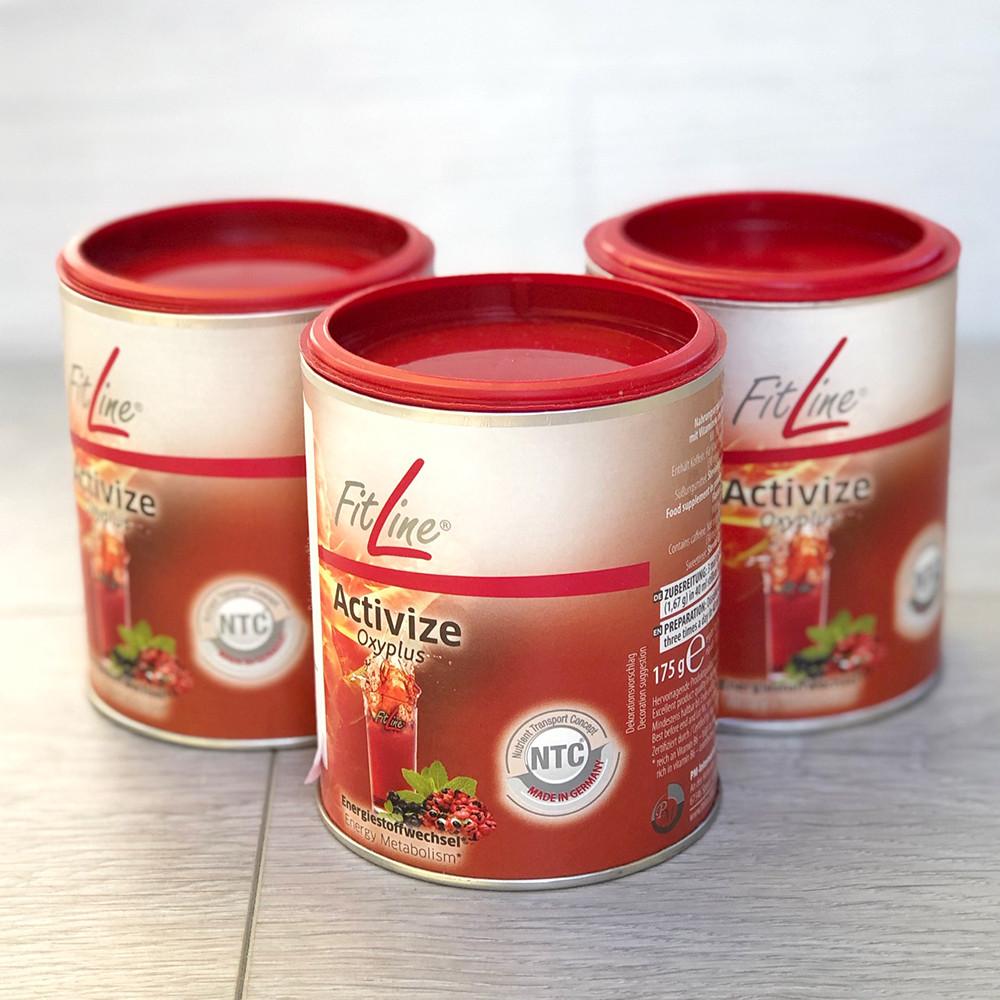 FitLine Activize Активайз Оксиплюс, набор 3 банки, витаминное питание, Германия - PM International