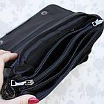 Стильная женская сумка клатч черная замш (А804), фото 6