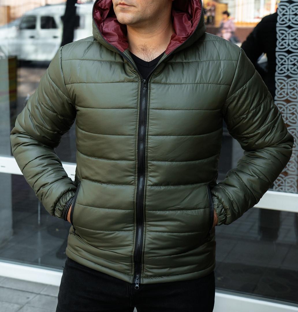 Куртка мужская хаки.Мужская демисезонная куртка c капюшоном. ТОП КАЧЕСТВО!!!