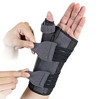 Бандаж для лучезапястного сустава и суставов большого пальца с анатомическими шинами Ortop EH-403 на левую руку, размер S