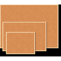 Дошка коркова JOBMAX, 90x120см, дерев'яна рамка