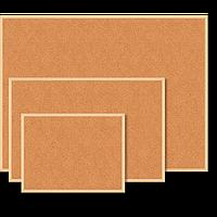 Дошка коркова JOBMAX, 45x60см, дерев'яна рамка