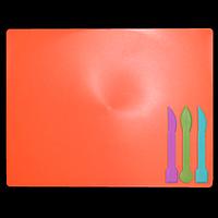 Дошка для пластиліну + 3 стеки для ліплення, коралова