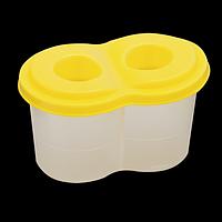 Стакан-непроливайка з двома отворами, жовтий