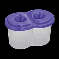 Стакан-непроливайка з двома отворами, фіолетовий