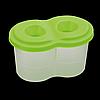 Стакан-непроливайка з двома отворами, салатовий