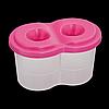 Стакан-непроливайка з двома отворами, рожевий