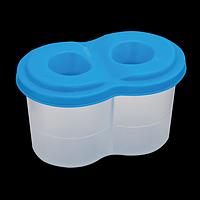 Стакан-непроливайка з двома отворами, синій