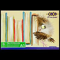 Альбом для малювання А5, 8 листів, скоба, захисний лак, 100 г / м2