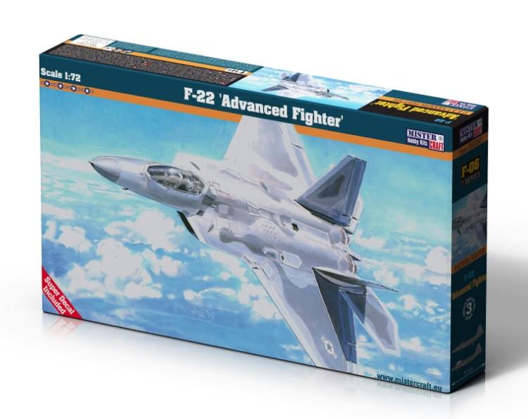 Сборная модель истербителя F-22. 1/72 MISTER CRAFT F-06