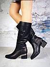 Демисезонные женские сапоги черного цвета, натуральная кожа 40 ПОСЛЕДНИЙ РАЗМЕР, фото 5