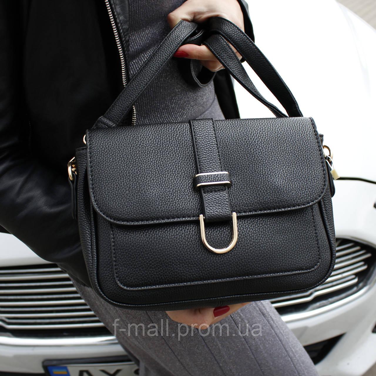 Женская сумка клатч черная (315)