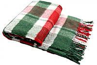 Плед шерстяной Vladi Метро (Влади) Зеленый 140х200 Шерсть 50 (3024)