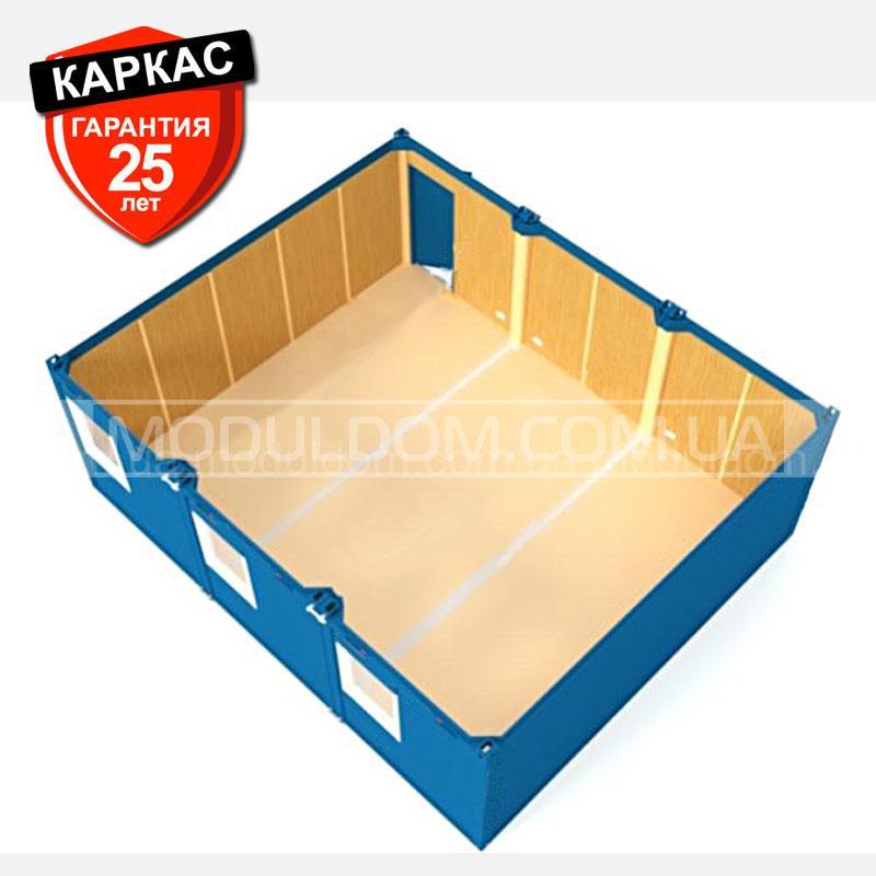 Блок-контейнер ОПЕНСПЕЙС-3 (6 х 7.2 м.), площадь 43.2 м2., на основе цельно-сварного металлокаркаса.