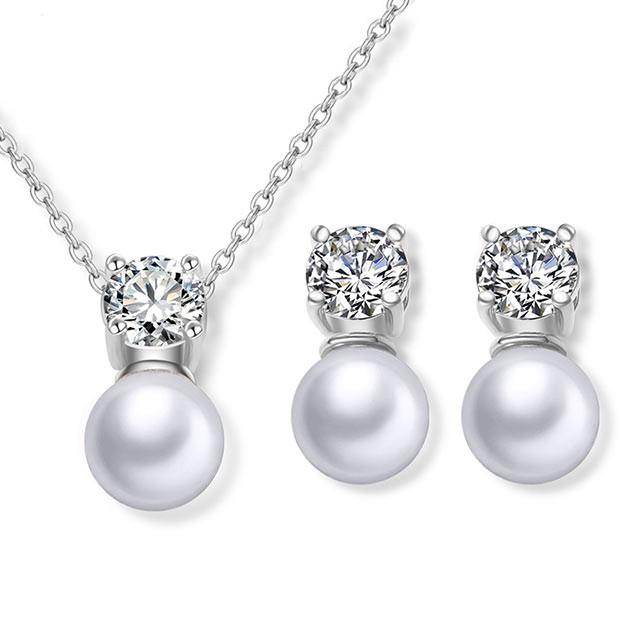 Набір прикрас - Витончений перли