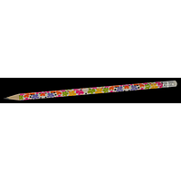Олівець графітовий HB з гумкою FLOWERS, 5шт. в блістері