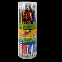 Олівець графітовий STARS HB з гумкою, туба