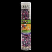 Олівець графітовий HB з гумкою LOVE, 100шт. в тубі, фото 1