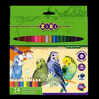 Олівці кольорові SOFT, 24 кольорів