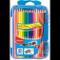Олівці кольорові COLOR PEPS Smart Box, 15 кольорів, пенал, фото 1