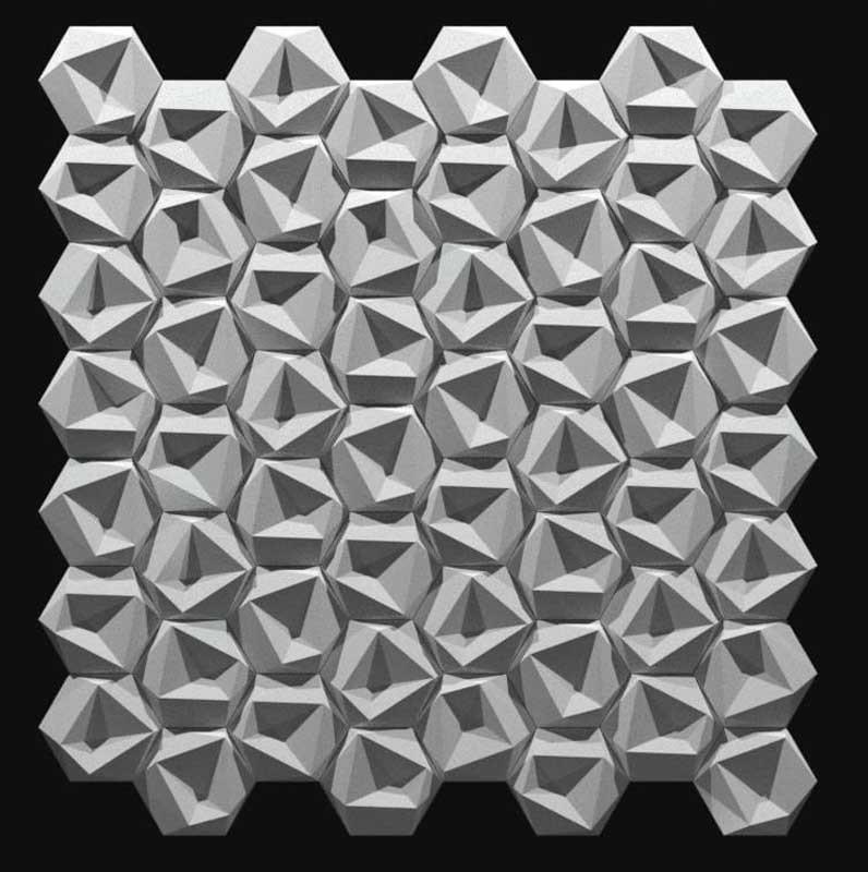 """Пластиковая форма для 3d панелей """"Стоун №1"""" 24*24 x4 (форма для 3д панелей из абс пластика)"""