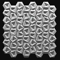 """Пластиковая форма для 3d панелей """"Стоун №1"""" 24*24 x4 (форма для 3д панелей из абс пластика), фото 1"""