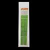 Пензлик синтетика пласка №2, в блістері 6 шт