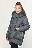 Детская зимняя куртка натуральным мехом