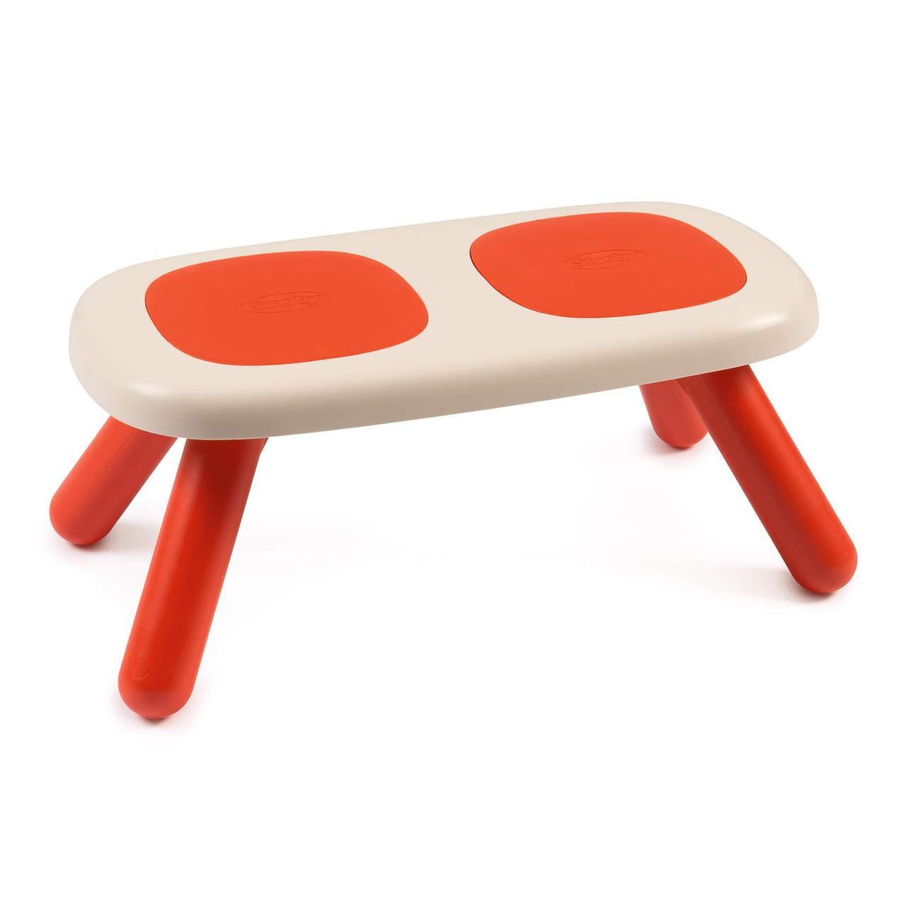 Лавочка без спинки детская Smoby Toys Красная 880303