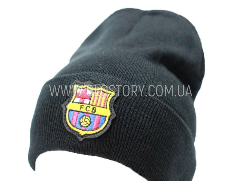 Колпак FC Barcelona двойной с отворотом