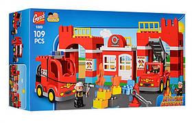 Конструктор Gorock 1009 Пожарная станция (аналог Lego Duplo 10593)